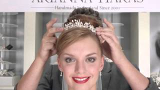 How to wear a tiara  - traditional bride