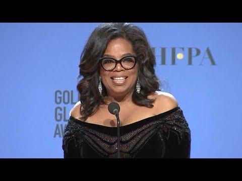 Oprah Winfrey Backstage at 2018 Golden Globes -- Watch Her Full Interview