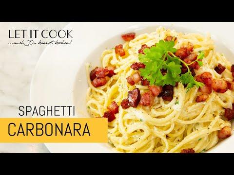 Spaghetti Carbonara (mit Sahne) – Zubereitung und Zutaten
