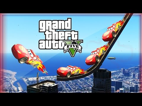 BIGGEST RAMP, DISNEY CARS & MEGA STUNTS! #3 (GTA 5 Mods Gameplay)