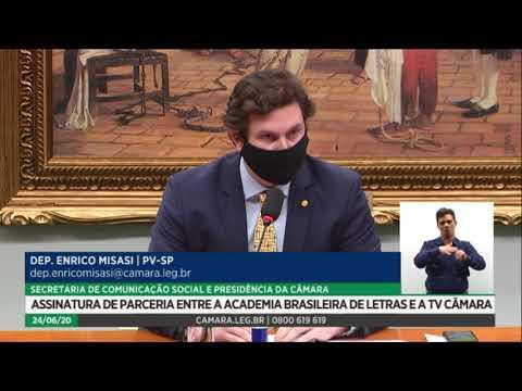 TV Câmara e Academia Brasileira de Letras assinam parceria pela valorização da cultura - 24/06/20