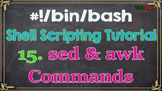 shell scripting Tutorial-15 sed, awk, vmstat, netstat and mail