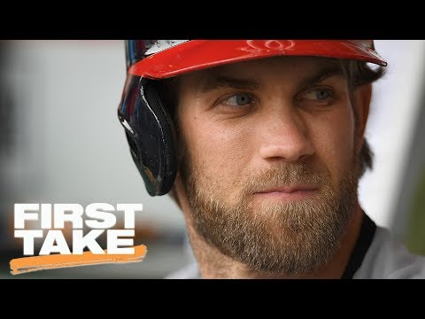 Suspending Bryce Harper For Hunter Strickland Fight Sends Wrong Message | First Take | May 31, 2017