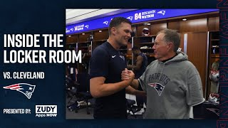 Patriots Celebrate Win Over the Browns | Inside the Locker Room