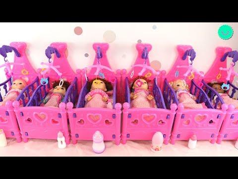 Rutina de Noche de NUEVE bebés Baby Alive ¡¡Todas las muñecas de mi canal!!