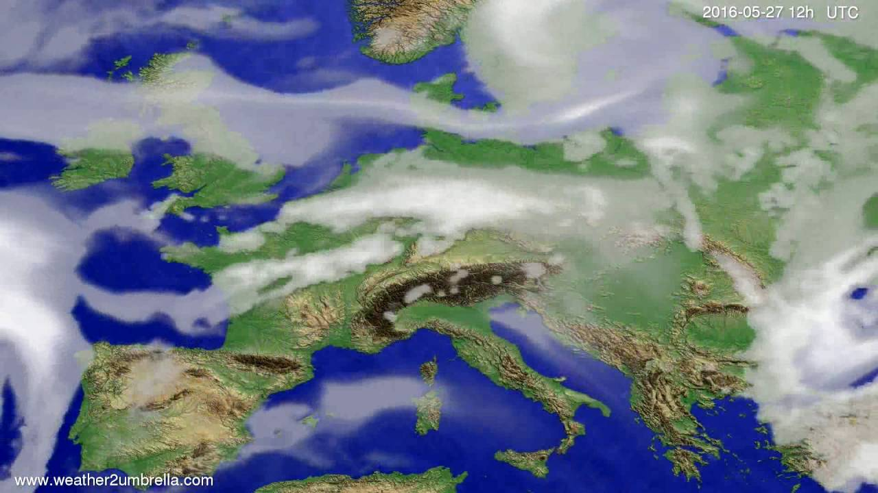 Cloud forecast Europe 2016-05-23