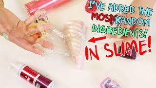 I PUT RANDOM INGREDIENTS IN SLIME ~ BATH AND BODY WORKS EDITION~ Slimeatory #462