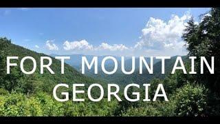 FLYING THE DJI PHANTOM 4 TWO YEARS AGO AT FORT MOUNTAIN GEORGIA