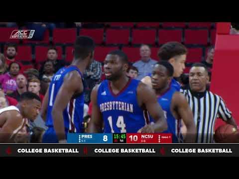 2017.11.16 Presbyterian Blue Hose at NC State Wolfpack Basketball