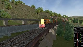 Speed, Power and Brake Test of WDG4 with Load | MSTS Open Rails
