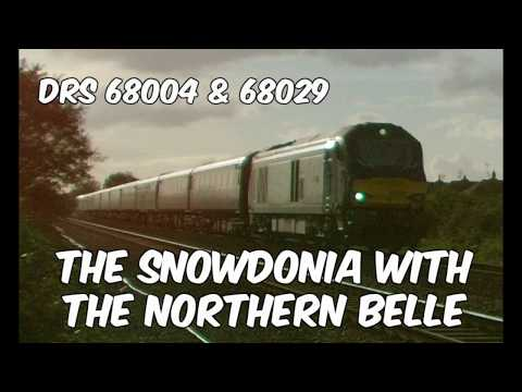 DRS 68004 & 68029 pass Prestatyn with 'The Northern Belle' 2…