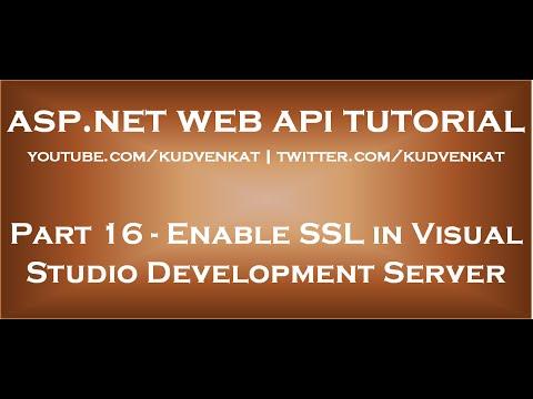 Enable SSL in Visual Studio Development Server - YouTube