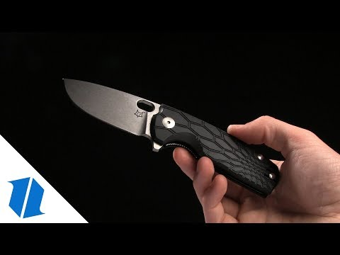 "Fox Knives Vox Core Liner Lock Knife Black FRN (2.8"" Black) FX-604 B"