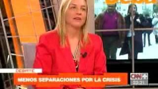 YOLANDA VACCARO EN CNN PLUS HABLA DE CRISIS ECONÓMICA Y DIVORCIOS
