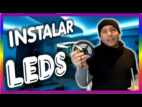 DIY COMO INSTALAR TIRAS LUCES LED RGB EN CASA - fácil y barato