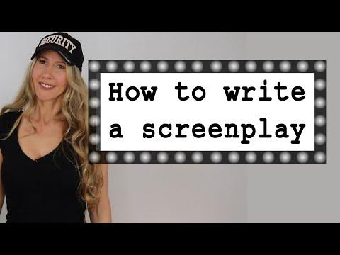 How to Write a Screenplay - scriptwriting for beginners - screenwriting