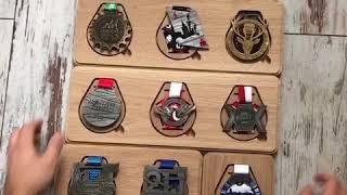 Riqqon 3x3 Medal Display System