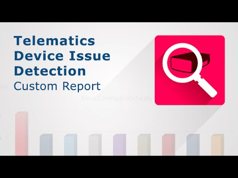 A video showing how Telematics Device Issue Detection Report works.
