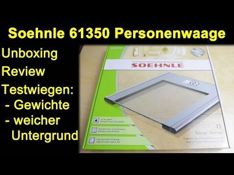 Soehnle 61350 PWD SilverSense Personenwaage - Unboxing, Review, Testwiegen kleiner Gewichte