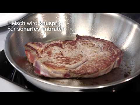 Kuhn Rikon Manchette suisse multiplicatrice (24cm, Poêle à frire, Acier inoxydable, Fonte d'aluminium)