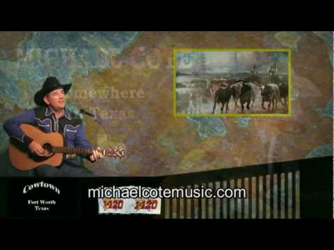 """Michael Cote Sings """"Somewhere in Texas"""""""