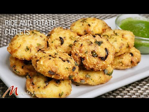 Rice and potato cutlets (easy to make 10 minute appetizer) recipe by Manjula