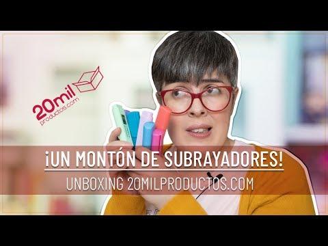 UN MONTÓN DE SUBRAYADORES | UNBOXING DE PAPELERÍA | 20milproductos