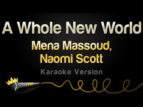 Mena Massoud, Naomi Scott  - A Whole New World (Karaoke Version)