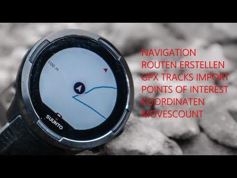 GPS Navigation:  Suunto 9 | Routen erstellen | Points of Interest | Praxis und Theorie
