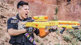 LTT Game Nerf War : Captain Warriors SEAL X Nerf Guns Fight Criminal Group Black Man Crossfire