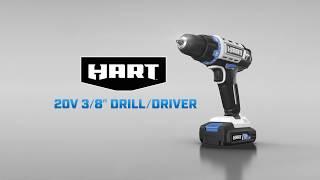 """HART 20V 3/8"""" Drill/Driver"""