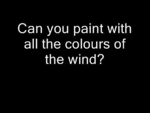 pocahontas colours of the wind lyrics