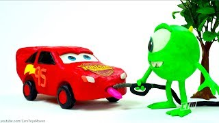 Lightning McQueen #95 vs. Jackson Storm 2.0 Cars 3 Toys for Kids Play Doh Disney Pixar Animation
