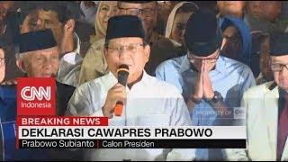 Download Video Prabowo Pilih Sandiaga Uno Jadi Cawapres, Deklarasi PKS, Gerindra, & PAN MP3 3GP MP4