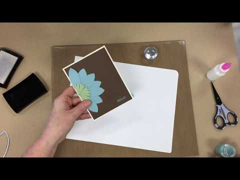 DIY Zen Lotus Flower Card | Sizzix