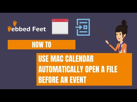 How to Use Calendar Automatically Open a File Before an Event