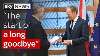 """Article 50 triggered: """"The start of a long goodbye"""""""