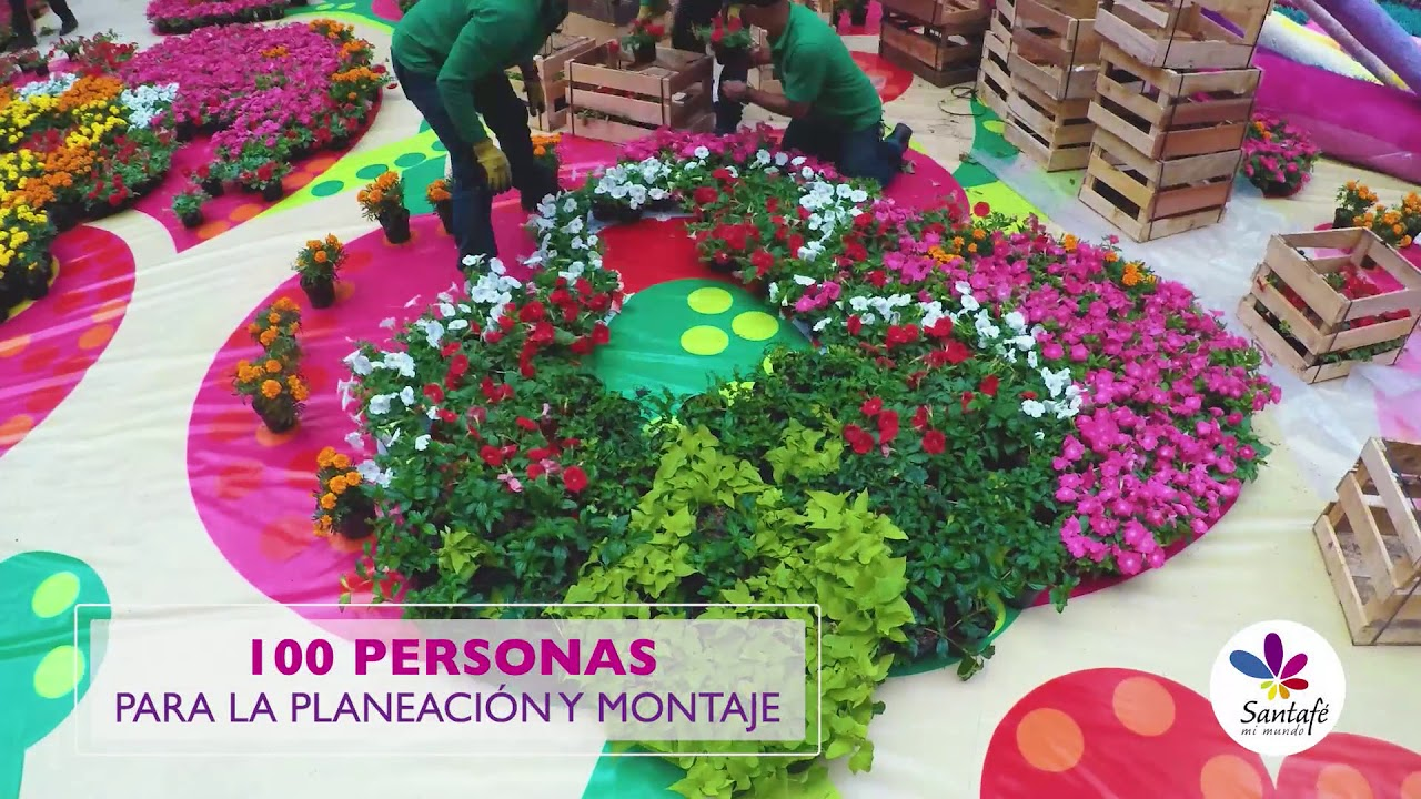 Tapete de Flores 2018 CC Santafé Medellín
