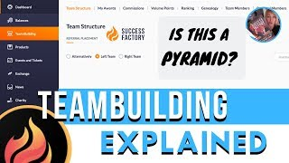 How to use Teambuilding - Team Structure - Success Factory Tutorial: Part 6 - #SuccessFactory