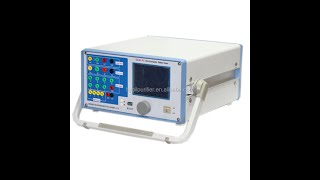 3 Phase Relay Test Set Secondary Injection Relay Calibration Tester youtube video