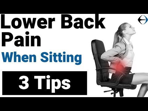 Lower back pain when sitting? 3 Tips from a Physical Therapist