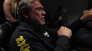 Terry Taylor In Match Viewing TV Room With NXT Superstars At WWE Performance Center Oct. 2019