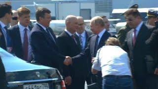 President Vladimir Putin arrives in Helsinki, Finland. July 16, 2018. Trump Putin summit