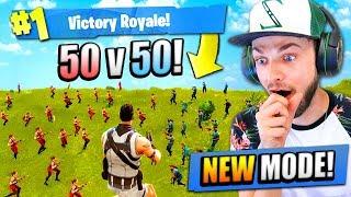 NEW 50 vs 50 MODE in Fortnite: Battle Royale!