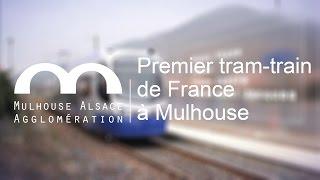 preview picture of video 'Premier tram-train de France à Mulhouse'