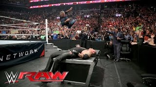Shane McMahon attacks The Undertaker before WrestleMania: Raw, March 28, 2016