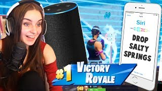 ALEXA vs SIRI | Who can help me win Fortnite?!