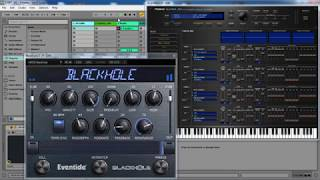 Ambient Roland JV-1080 Cloud VST and Eventide BlackHole