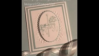Coffee and a stunning Christening card Stampin' Up! products