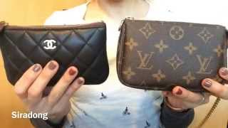 Comparison LV mini pochette & Chanel small pouch